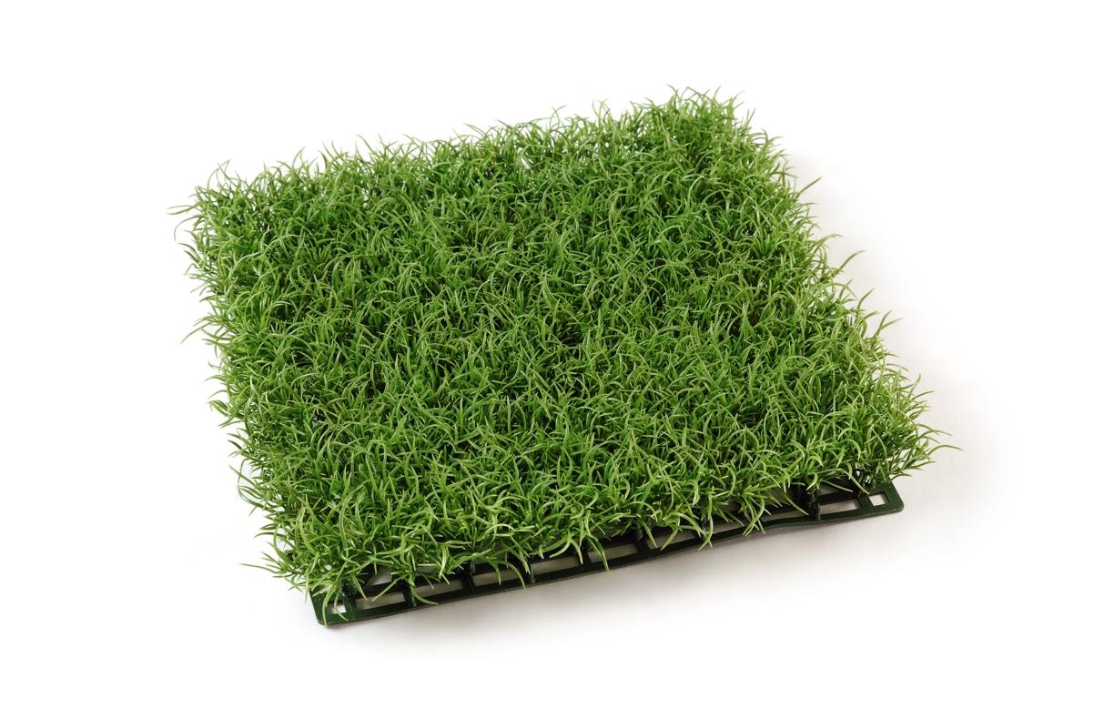 Коврик Газон-трава искусственная светло-зеленая 26x26 см