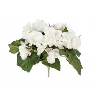 Бегония искусственная цветущая куст белый 20 см