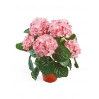 Искусственная Гортензия куст розовый в горшке 35 см
