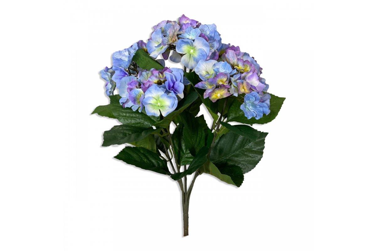 Гортензия куст голубой искусственный 40 см