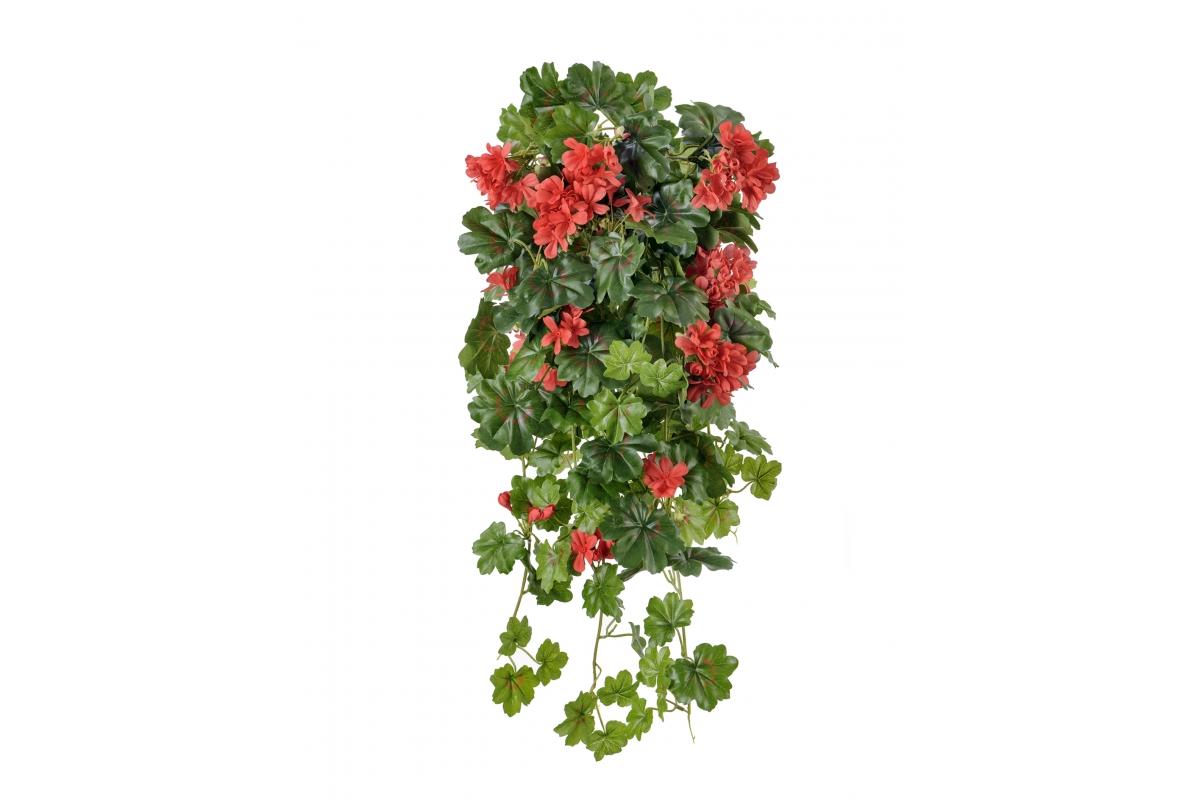 Герань ампельная искусственная красная 65 см