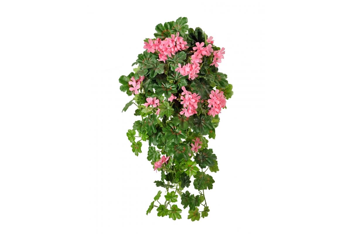 Герань ампельная искусственная ярко-розовая 65 см