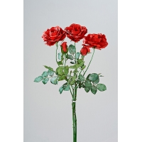 """Букет из Роз новогодний """"Твиджи"""" искусственный красный 68 см"""