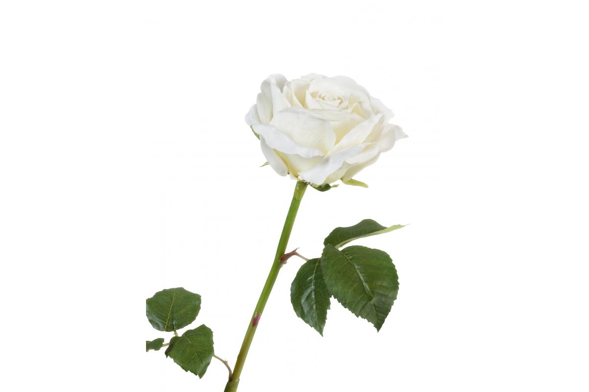 Роза Варди искусственная белая 58 см