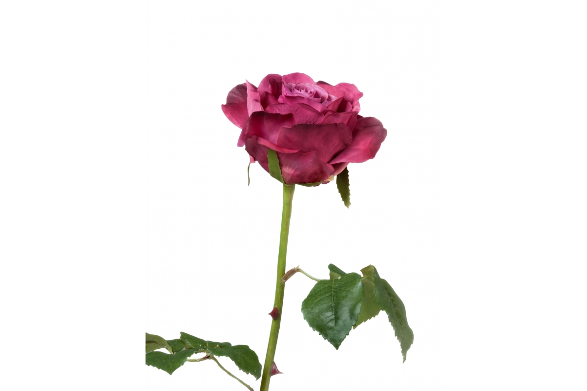 Роза Варди искусственная темная фуксия 58 см