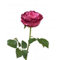 Роза Джема искусственная темная фуксия 56 см