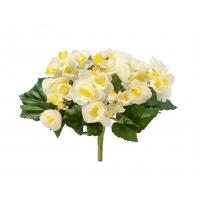 Бегония искусственная цветущая куст лимонно-желтый 20 см