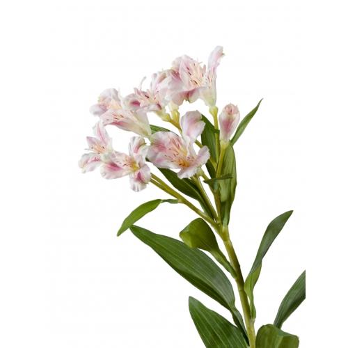 Альстромерия искусственная бело-розовая 72 см