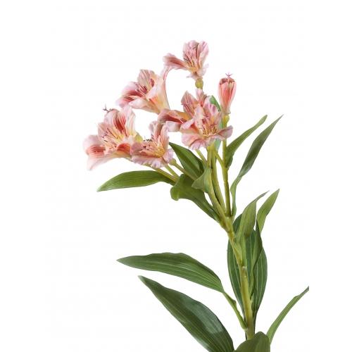 Альстромерия искусственная розово-желтая 72 см