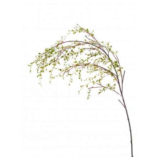 Анжела Вайн (ветка Муленбекии) искусственная зеленая 98 см
