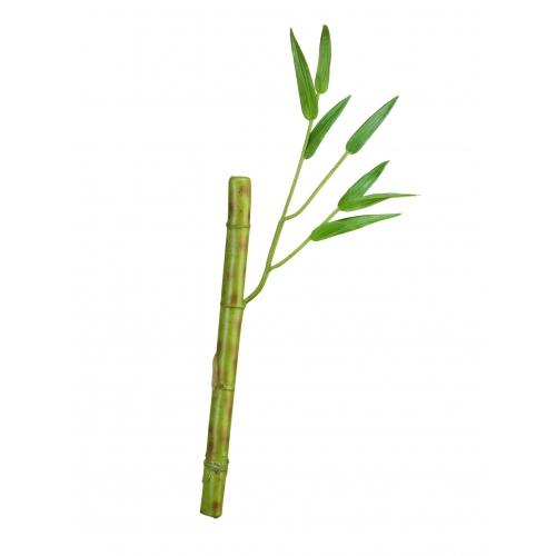 Бамбук стебель с веточкой искусственный светло-зеленый 26 см