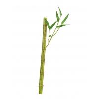 Бамбук стебель длинный с веточкой искусственный светло-зеленый 39 см