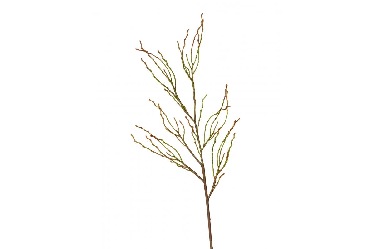 Ветвь искусственная зелено-коричневая 70 см
