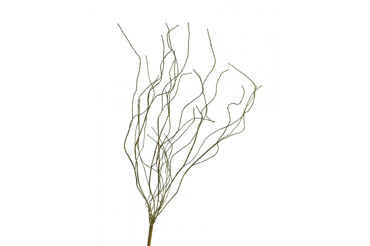 Ветка искусственная зеленая 85 см