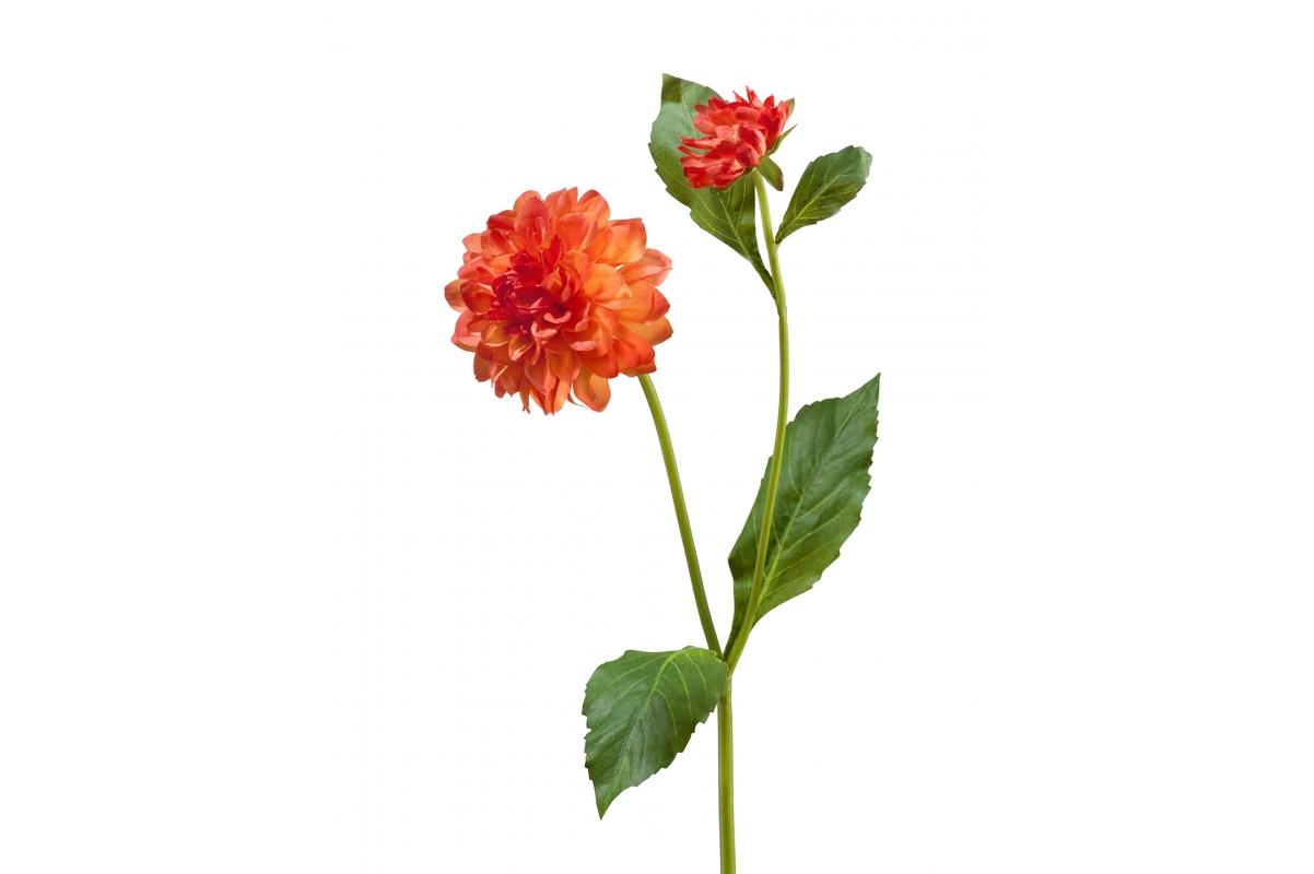 Георгин искусственный оранжевый 48 см