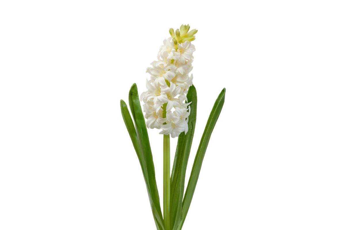 Гиацинт искусственный белый 38 см