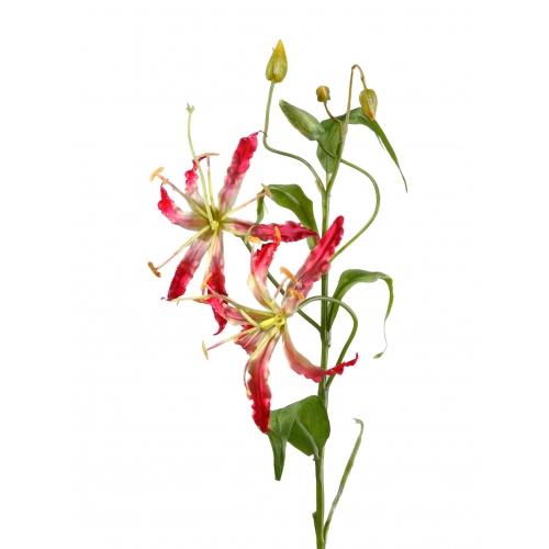 Глориоза искусственная розово-бордо 60 см