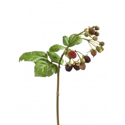 Ветка Ежевики с ягодами искусственная 33 см