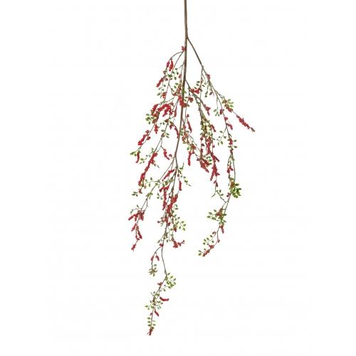 Красные Ягоды на ветке искусственные 118 см