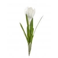 Крокус искусственный белый 20 см