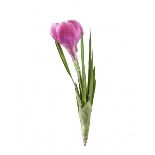 Крокус искусственный розовый 20 см