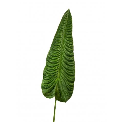 Лист Алоказии (Слоновье Ухо) искусственный зеленый 130 см