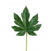 Лист Аралии искусственный темно зеленый 42 см