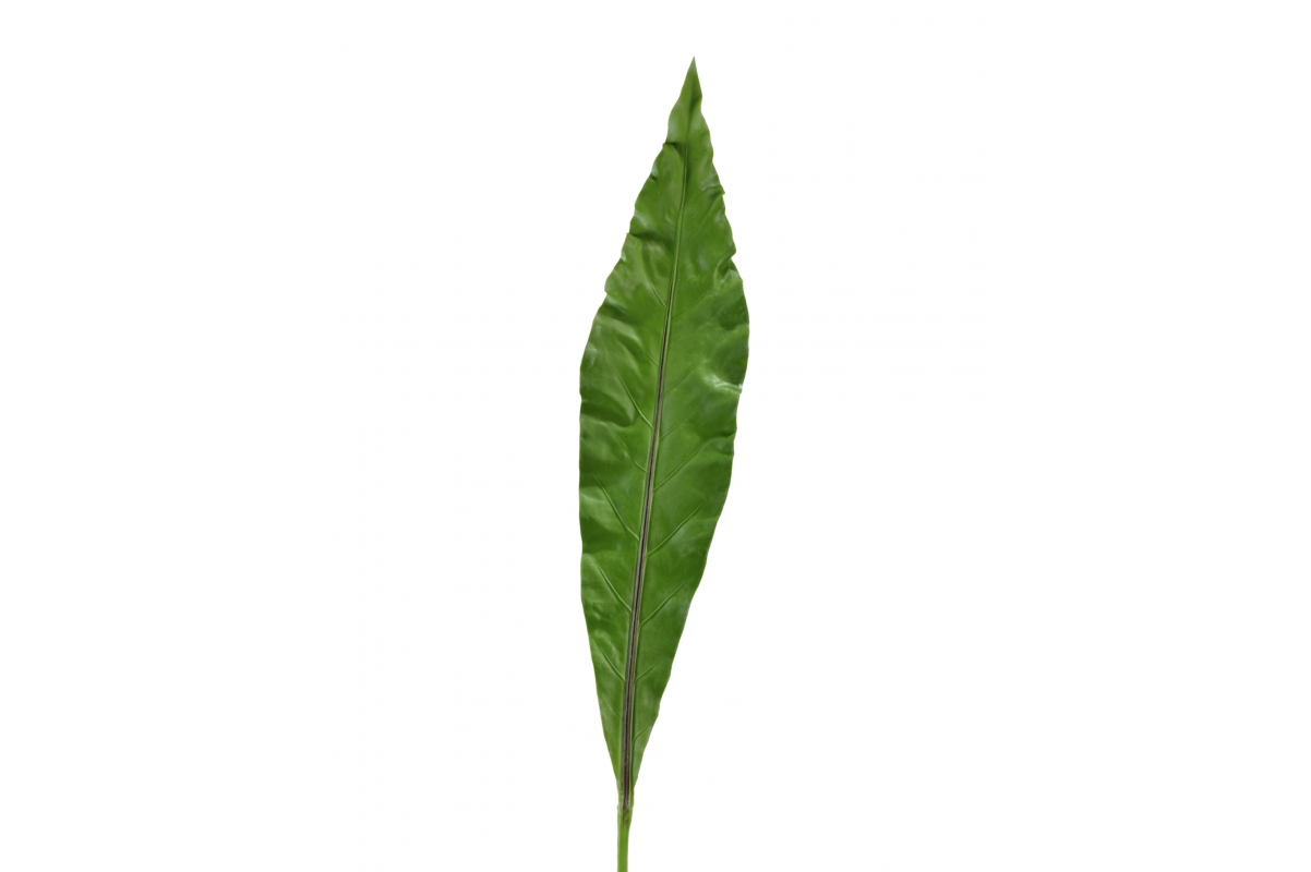 Лист Антуриума Король Джунглей искусственный зеленый 105 см