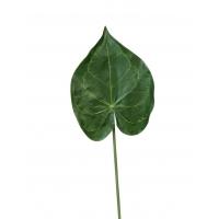 Лист Кристалины искусственный зеленый 60 см