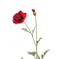 Мак искусственный красный 73 см