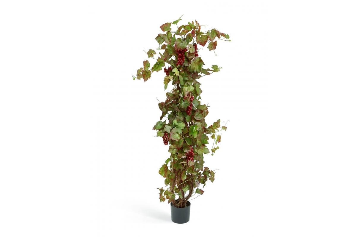 Виноградная лоза искусственная с красным виноградом 160 см