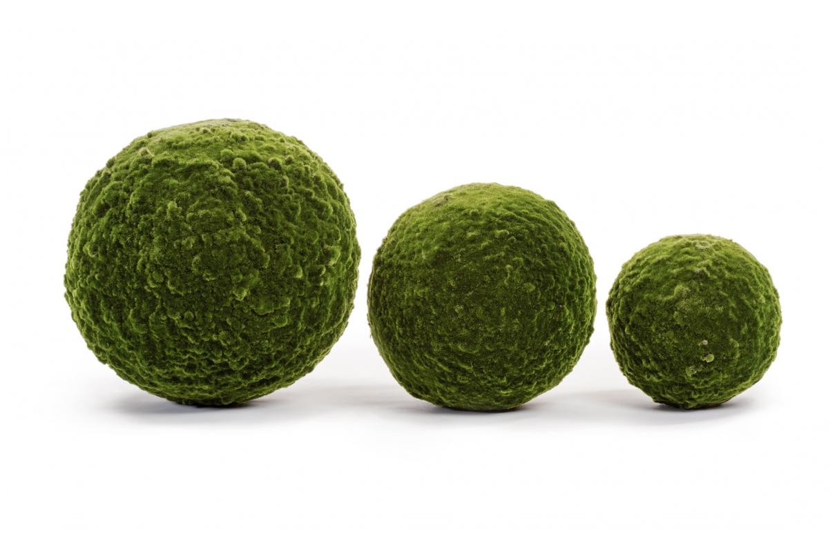 Шар из мха искусственный зеленый