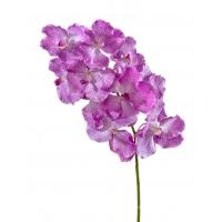 Орхидея Ванда искусственная с ярко сиреневыми прожилками 75 см (Real Touch)