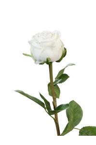 Роза Эспернаса Мидл искусственная белая 49 см