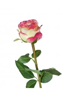 Роза Эсперанса искусственная лимонно-розовый 49 см