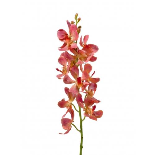 Орхидея Дендробиум искусственная кораллово-розовая 58 см (Real Touch)