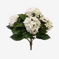 Гортензия искусственная куст белый 37 см (без кашпо)