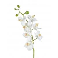 Орхидея Фаленопсис Элегант искусственная  белая 70 см (Real Touch)