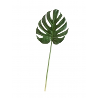 Лист Монстеры Мидл искусственный зеленый 69 см