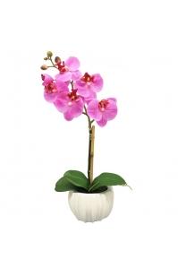 Орхидея 1 ветка в керамическом кашпо 45 см