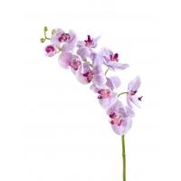 Орхидея Фаленопсис Мидл искусственная бело-сиреневая с крапинами 76 см (Real Touch)