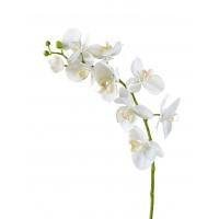 Орхидея Фаленопсис Мидл искусственная белая 76 см (Real Touch)
