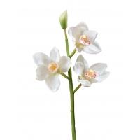 Орхидея Цимбидиум искусственная ветвь белая малая 50 см (Real Touch)
