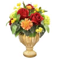 Композиция из Роз искусственная в вазе 40 см