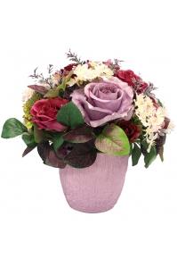 Композиция из Роз искусственная в керамическом кашпо 30 см