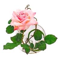 Композиция Роза искусственная в вазе с водой 30 см