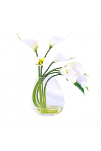 Композиция из 7 Калл искусственная в вазе 63 см