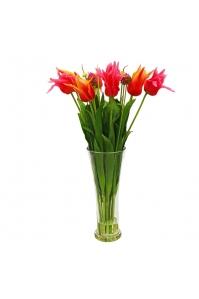 Композиция из Тюльпанов с цветущим луком искусственная в вазе 75 см