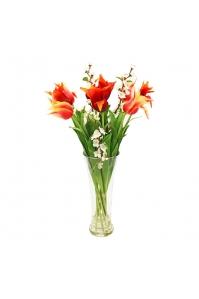 Композиция из Тюльпанов и Сакуры искусственная в вазе 75 см