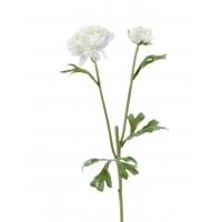 Ранункулюс искусственный белый 45 см